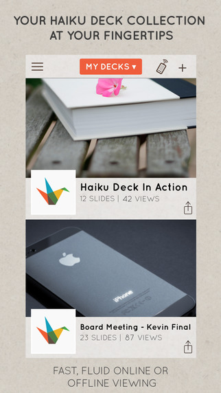 Haiku Deck App