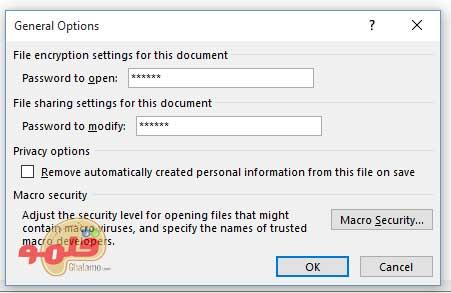 رمزگذاری فایل های پاورپوینت - پسوردگذاری
